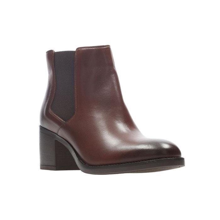 Boots Bay La Redoute Noir Cuir Mascarpone Clarks r6qZr