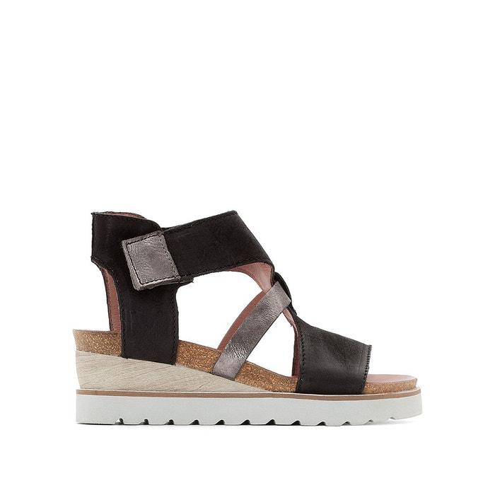 Sandales compensées, cuir, Tapas MJUS image 0