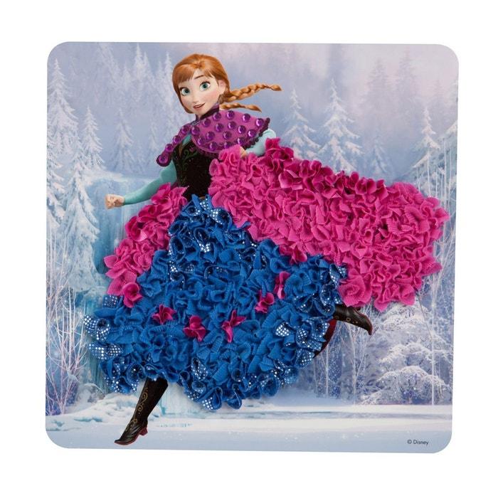 Set créatif La Reine de Neiges (Frozen) : Cadre en tissu numéroté Anna