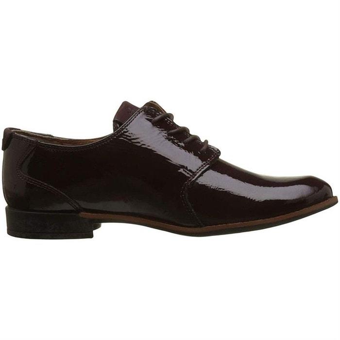 8a9d36e09f803 Chaussures à lacets cuir bordeaux Tbs   La Redoute