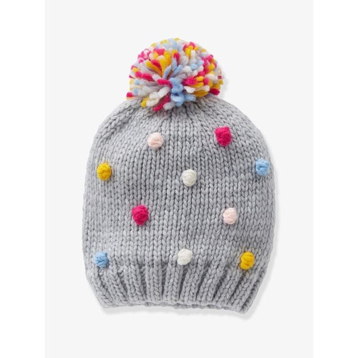 2968c6c159e39 Bonnet pompons multicolores fille gris moyen Vertbaudet | La Redoute