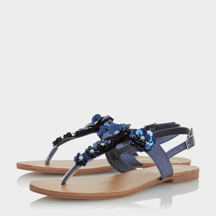 Sandales plates à entredoigt orné motif fleurs - nadiaa Head Over Heels By Dune