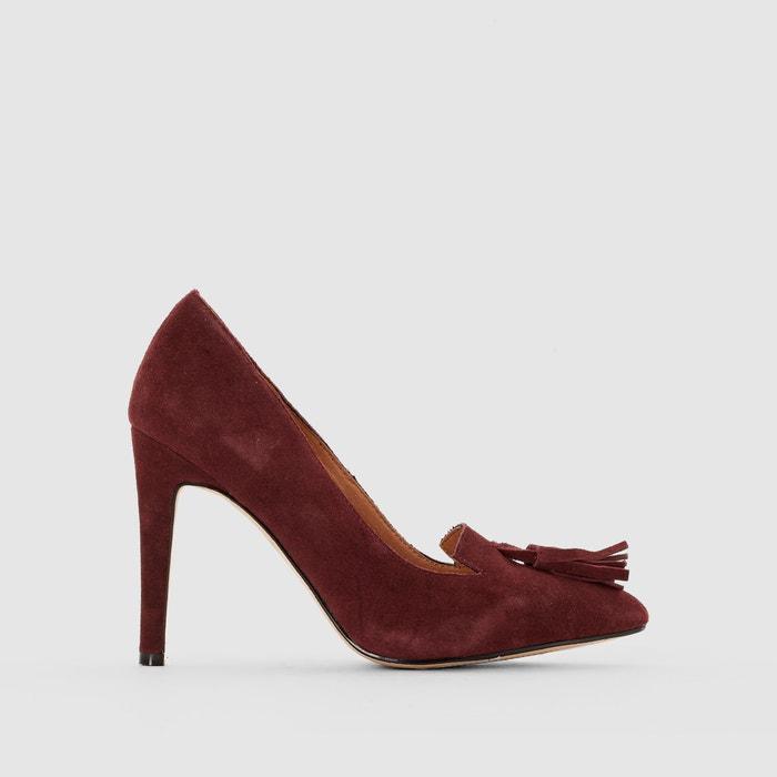 Imagen de Zapatos de tacón de piel con detalle de borla La Redoute Collections