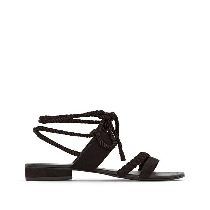 Sandalen om te strikken aan de enkels, brede voet 38-45  CASTALUNA image 0
