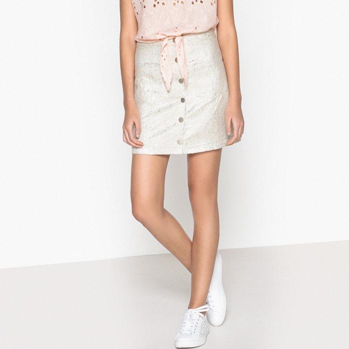 Faune Metallic Buttoned Skirt  SUNCOO image 0