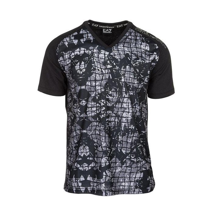 Tee-shirt coton noir Emporio Armani Ea7   La Redoute a96fc316b38