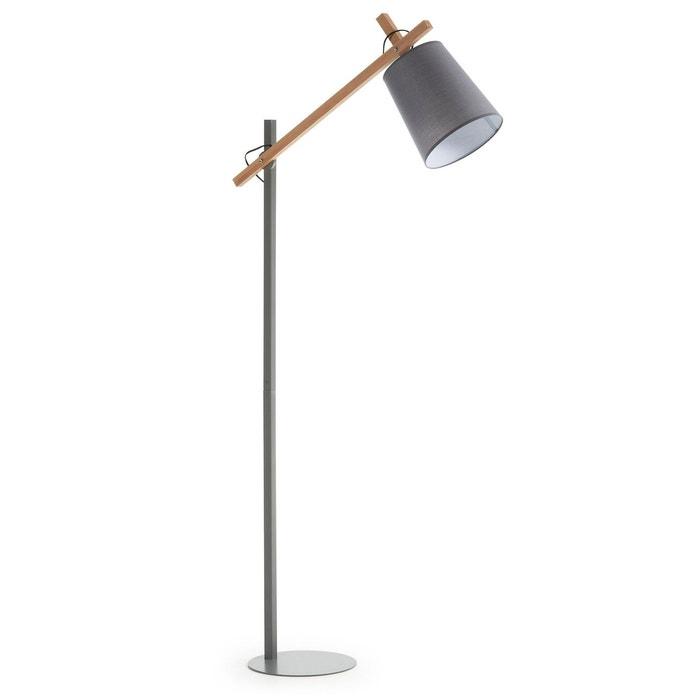 lampadaire kosta gris gris natural kavehome la redoute. Black Bedroom Furniture Sets. Home Design Ideas