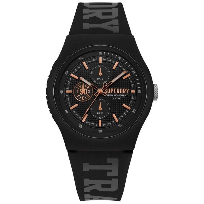 Montre analogique bracelet silicone multifonctions urban noir Superdry | La Redoute Prix Le Moins Cher Rabais Achat De Dédouanement zVsjAEhU4