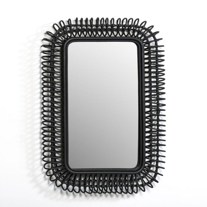 miroir rotin l90 x h60 cm tarsile noir am pm la redoute. Black Bedroom Furniture Sets. Home Design Ideas