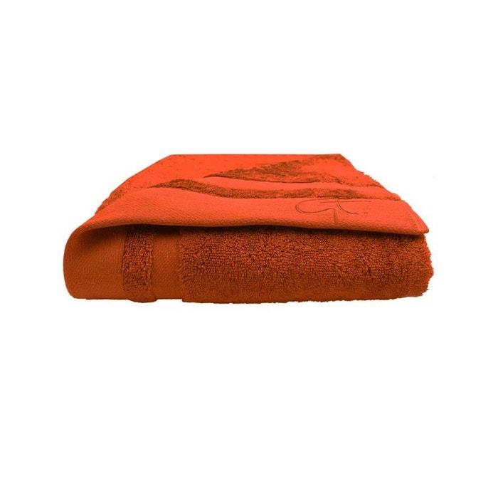 drap de bain ligne bambou potiron orange garnier thiebaut la redoute. Black Bedroom Furniture Sets. Home Design Ideas