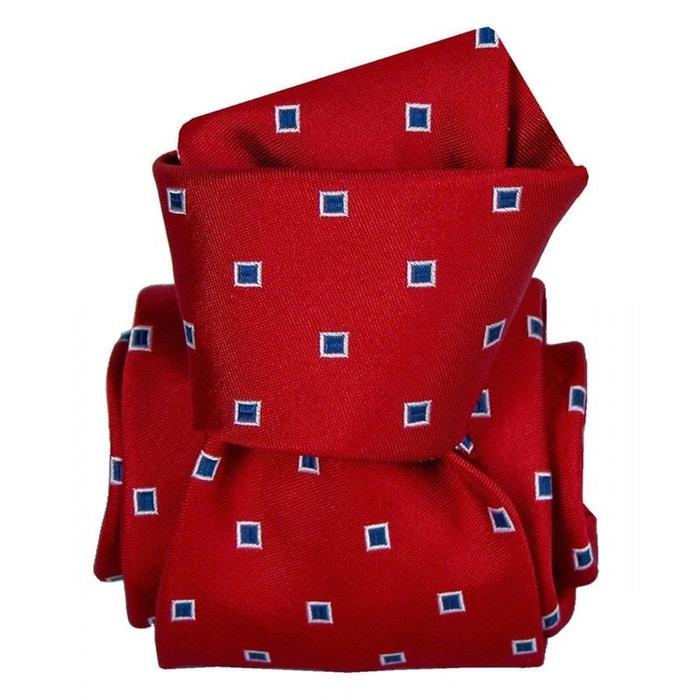 Cravate segni disegni luxe, faite main, grenade rouge rouge Segni Et Disegni | La Redoute