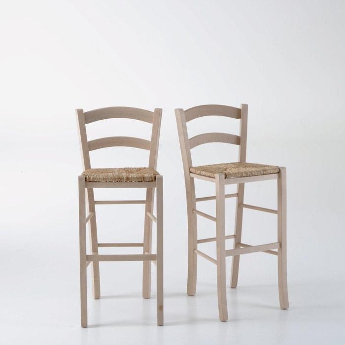 Set of 2 PERRINE Farmhouse Bar Chairs