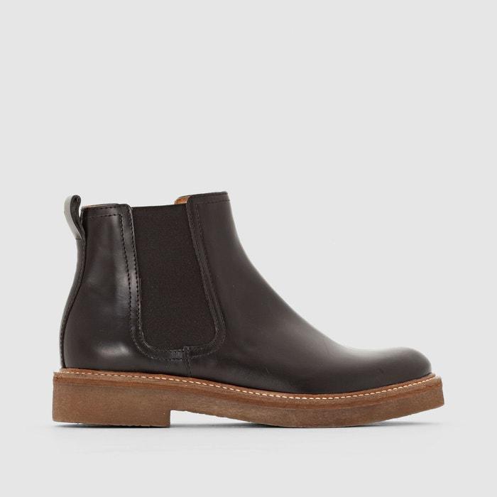 Boots en cuir oxfordchic  noir Kickers  La Redoute