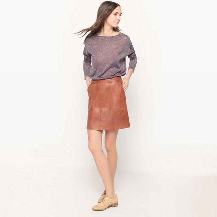afbeelding Glanzende trui met ronde hals La Redoute Collections
