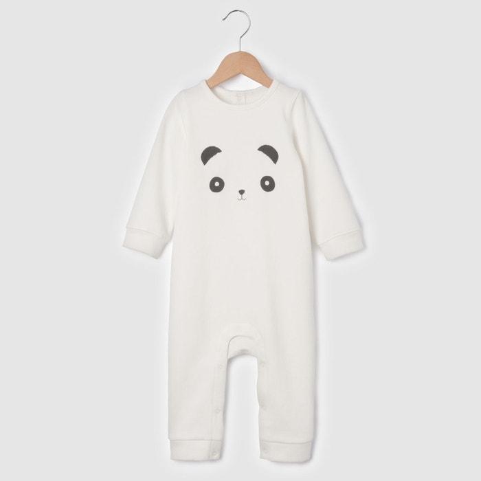 """Combinaison molleton """"panda"""" 0 mois-2 ans"""