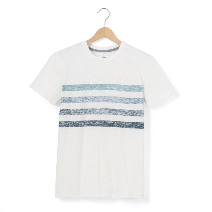 afbeelding T-shirt met geplaatste strepen La Redoute Collections