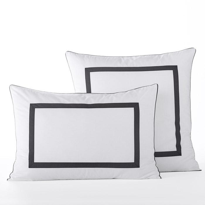 taie d 39 oreiller percale bio othoza am pm la redoute. Black Bedroom Furniture Sets. Home Design Ideas