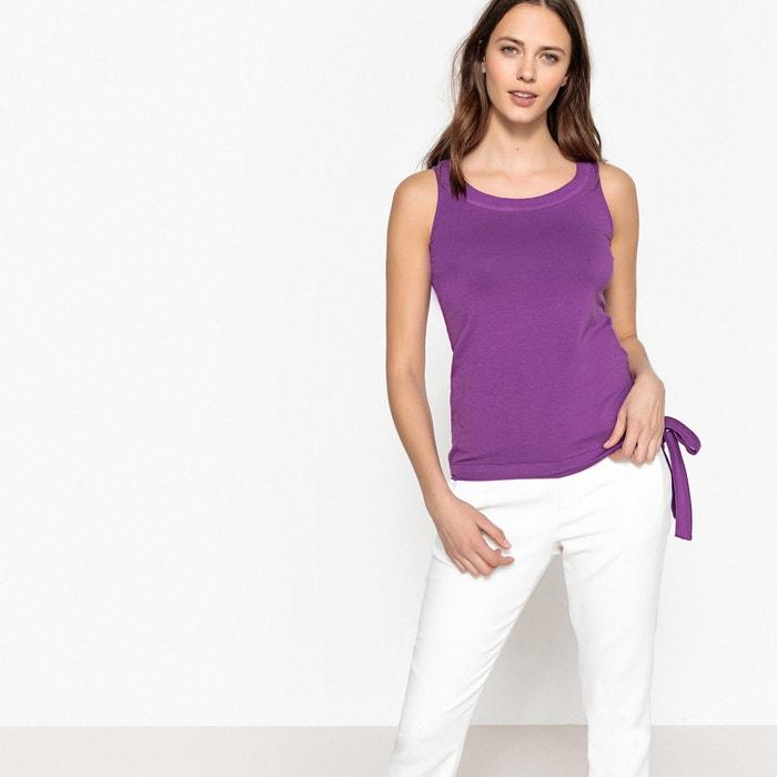 T-shirt scollo rotondo senza maniche fiocco laterale  La Redoute Collections image 0