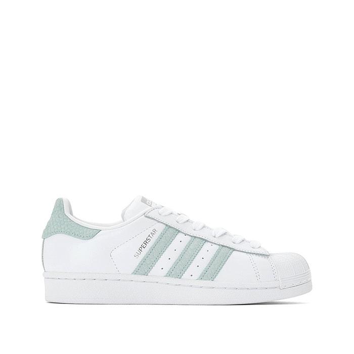premium selection 45e40 56089 Superstar trainers , white green, Adidas Originals   La Redoute