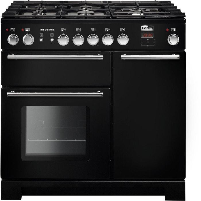 232a316a7075b8 Piano de cuisson mixte infusion 90cm noir chrm Falcon   La Redoute
