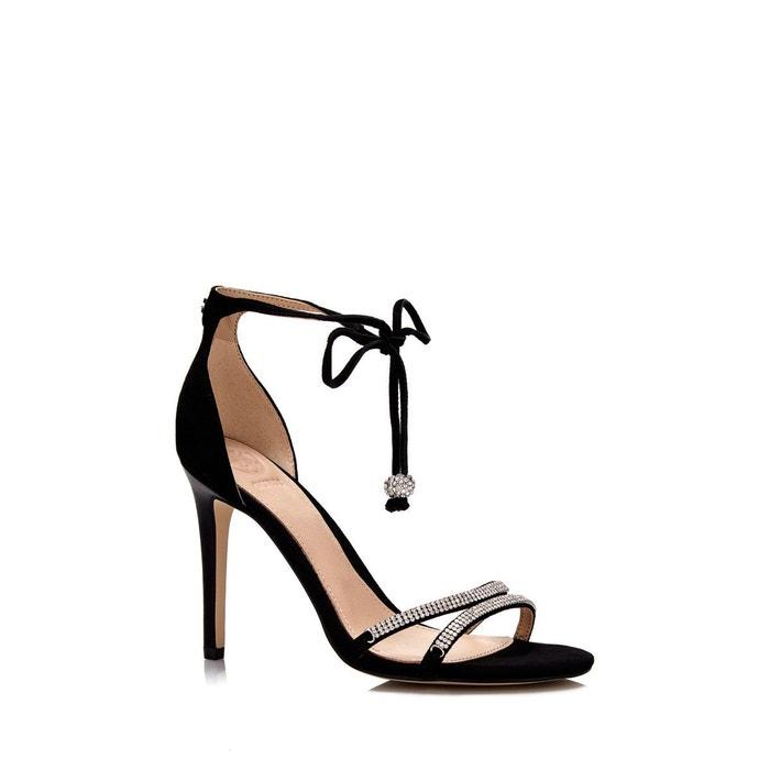 Sandale en daim noir Guess Marque De Jeu Nouveau Unisexe Sortie Rabais I3hMDc