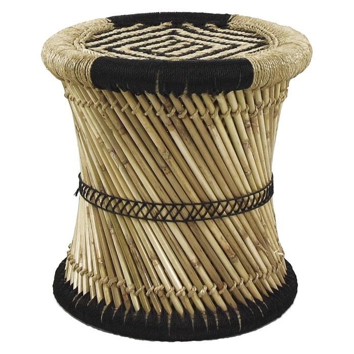 tabouret bambou colonial noir harmony la redoute. Black Bedroom Furniture Sets. Home Design Ideas