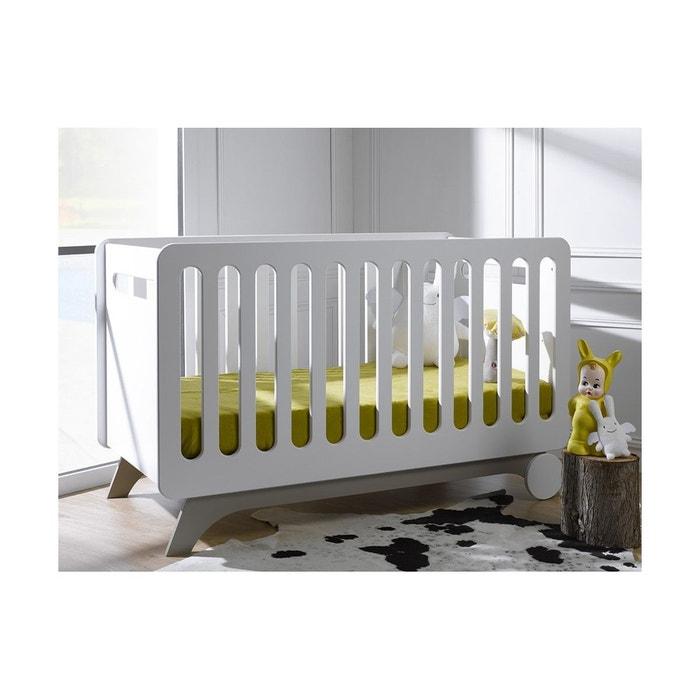 Lit b b volutif bonheur barreaux et kit de conversion 70x140 blanc chambrekids la redoute - La redoute lit bebe ...