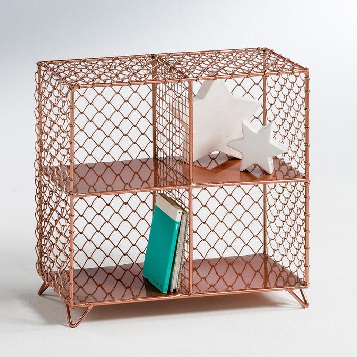 Image Elori Copper-Coloured Wire Mesh Shelf Unit La Redoute Interieurs