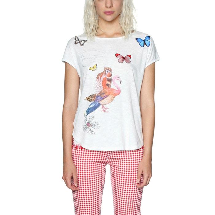 T-shirt scollo rotondo fantasia animalier  DESIGUAL image 0