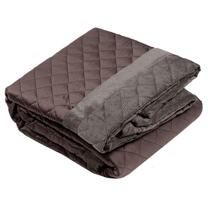 plaid polyester newbury gris fonc gris fonc madura la redoute. Black Bedroom Furniture Sets. Home Design Ideas