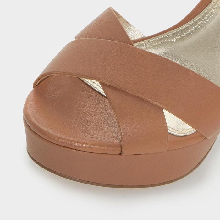 Iyla - sandales à talons carrés et empeigne croisée Dune London
