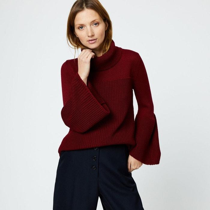 9fdafa9f6dfe8 Pull italien contenant de laine violet Monoprix   La Redoute