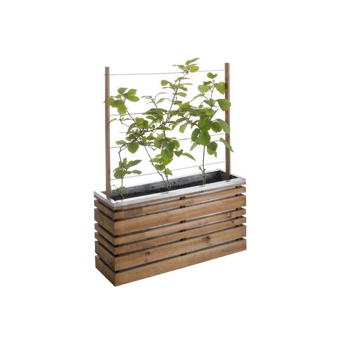 bac fleurs 110 litres lign z avec treillis marron jardipolys la redoute. Black Bedroom Furniture Sets. Home Design Ideas