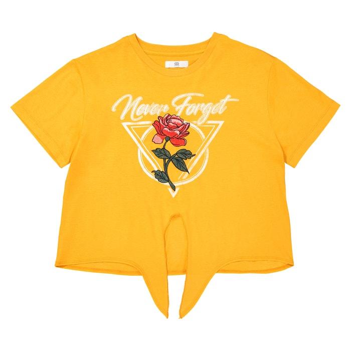 T-shirt scollo rotondo in cotone 10-16 anni  La Redoute Collections image 0