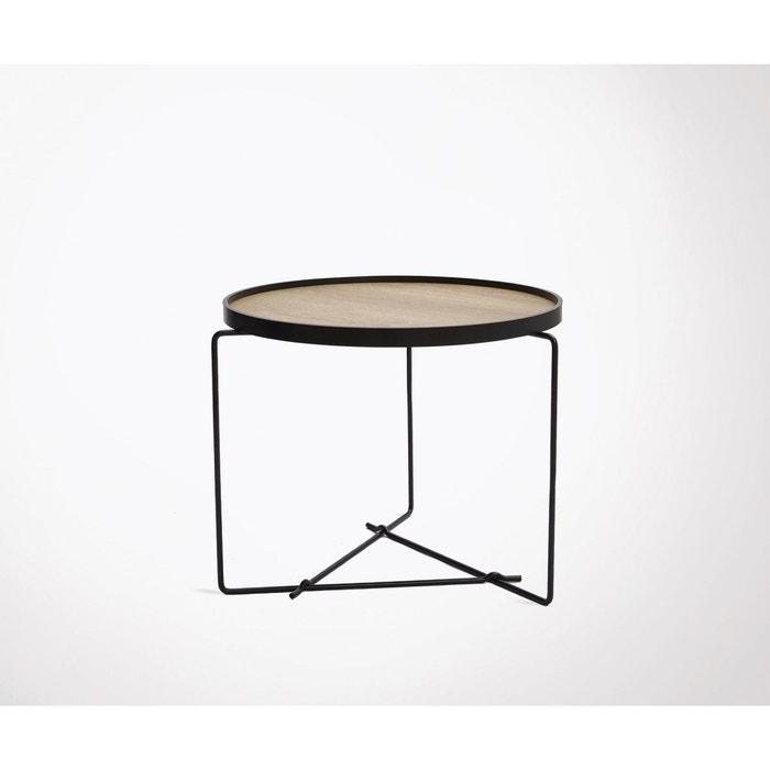 Petite Table Basse Design Bois Metal Winel