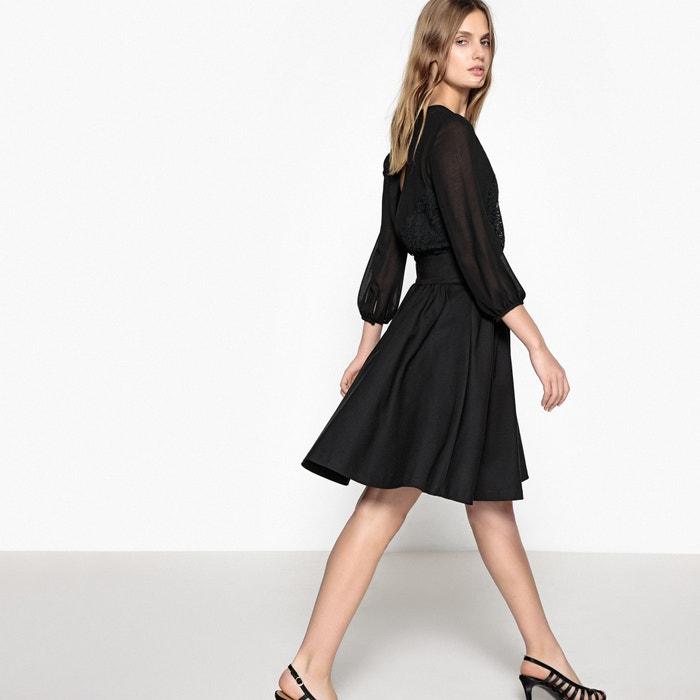 evas 233; encaje espalda y con R transparencia MADEMOISELLE Vestido bonita wSqx61FUF