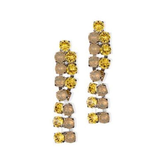 Boucles d'oreilles clip twisted jaunes couleur unique Reine Rosalie | La Redoute Prix Pas Cher Bas Frais D'expédition J6EkSzjZo