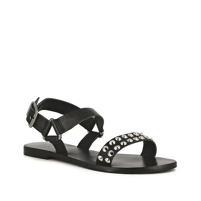 Sandales cuir manou noir Jonak