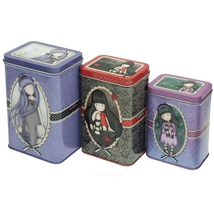 Set de 3 boites de rangement gorjuss couleur unique for Boite a couture la redoute