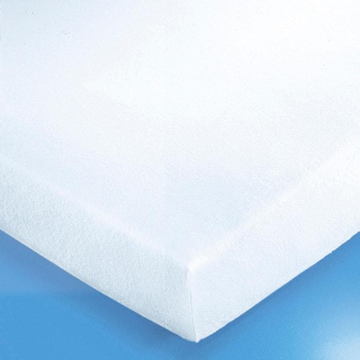 prot ge matelas housse molleton 220 g m blanc reverie. Black Bedroom Furniture Sets. Home Design Ideas