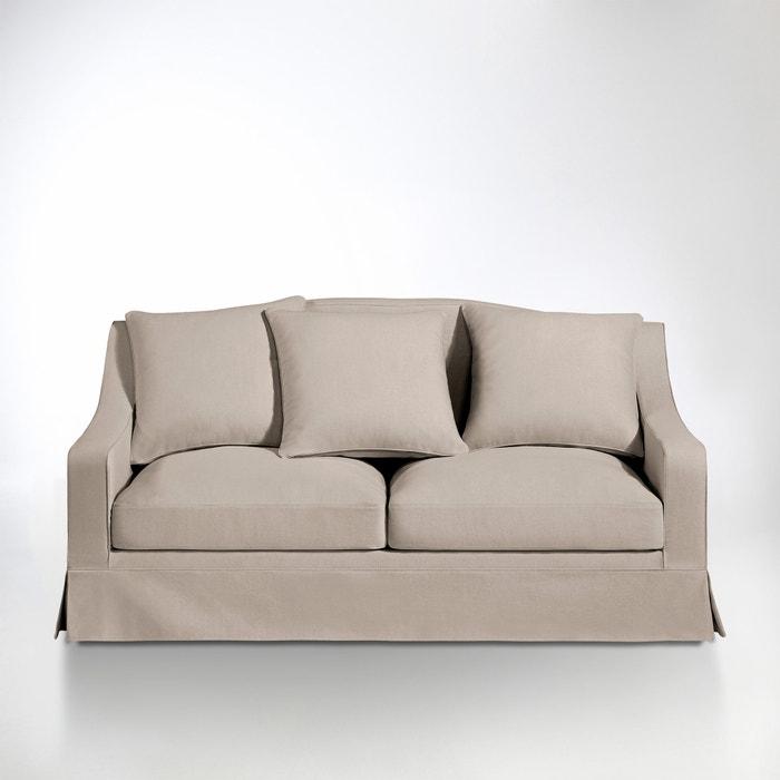 afbeelding 2- of 3-zit canapé, vast model, uitstekend comfort, katoen/linnen, Evender La Redoute Interieurs