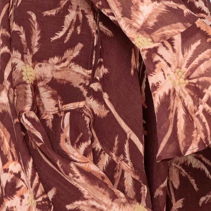 Imprimée Maison Robe Palmiers Fluide Imprimé Upala Scotch Courte Rq56qwB
