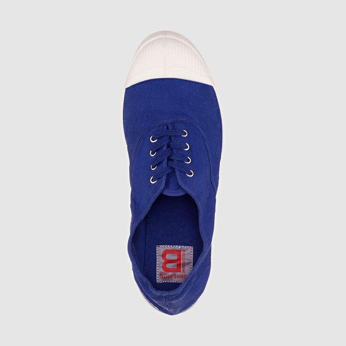 Bensimon tennis lacets femme bleu vif Bensimon