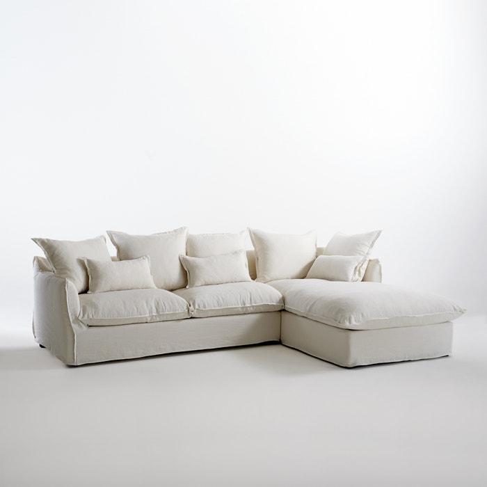 Image Canapé d'angle fixe en lin froissé,  bultex Odna La Redoute Interieurs