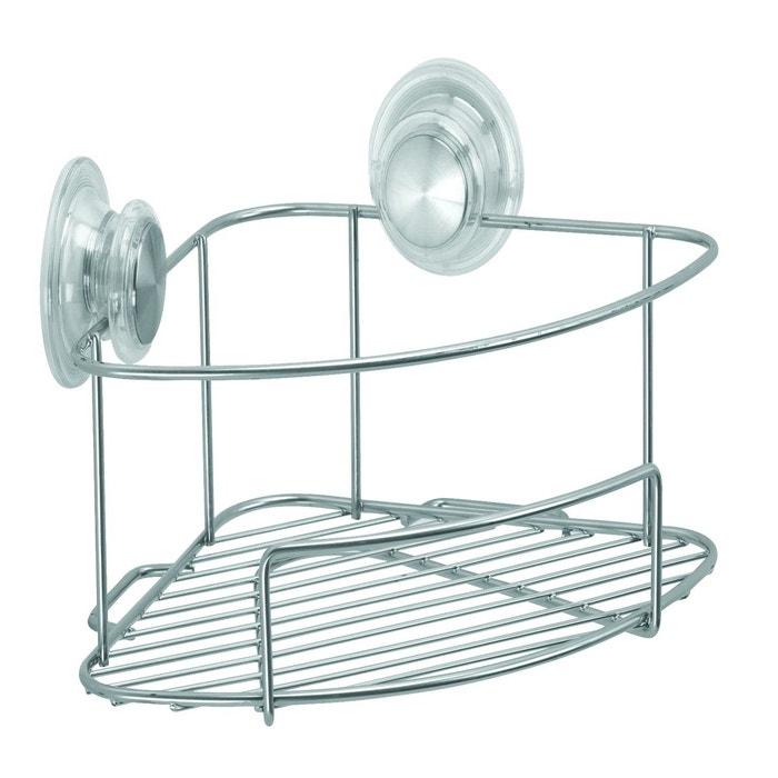 Etag re d 39 angle ventouses interdesign finition argent for La redoute meuble d angle