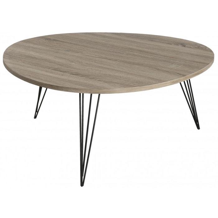 Table basse r tro scandinave en bois landaise bois pier import la redoute - Table basse scandinave la redoute ...