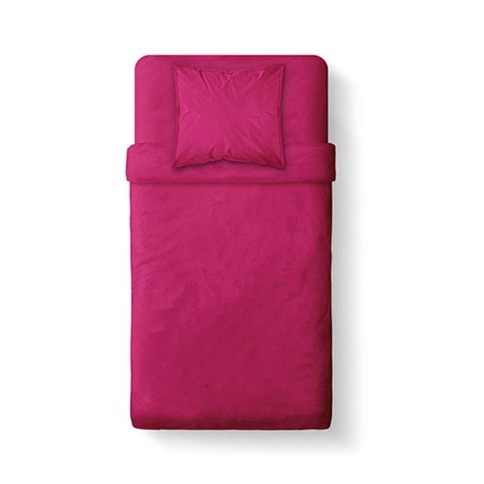 Housse de couette unie pour lit une place coton 57 fils - Housse de couette lit une place ...