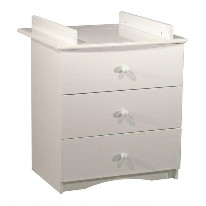 Commode 3 tiroirs avec dispositif a langer amovible blanc sauthon blanc sauthon online la redoute - Commode la redoute ...