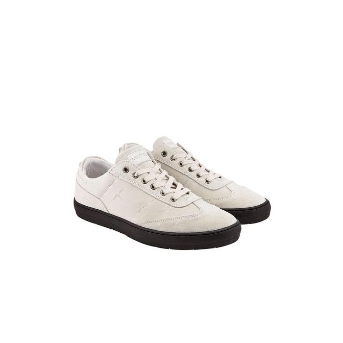 Sneaker nubuck semelle noire blanc  blanc Carnet De Vol  La Redoute