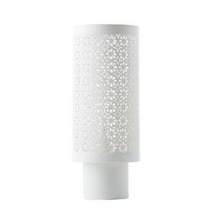 Lampe A Poser Photophore Porcelaine Flowers Blanc Pols Potten La